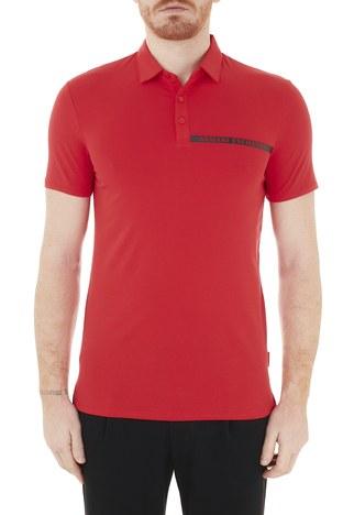 Armani Exchange - Armani Exchange Pamuklu T Shirt Erkek Polo 3KZFHA ZJE6Z 1400 KIRMIZI