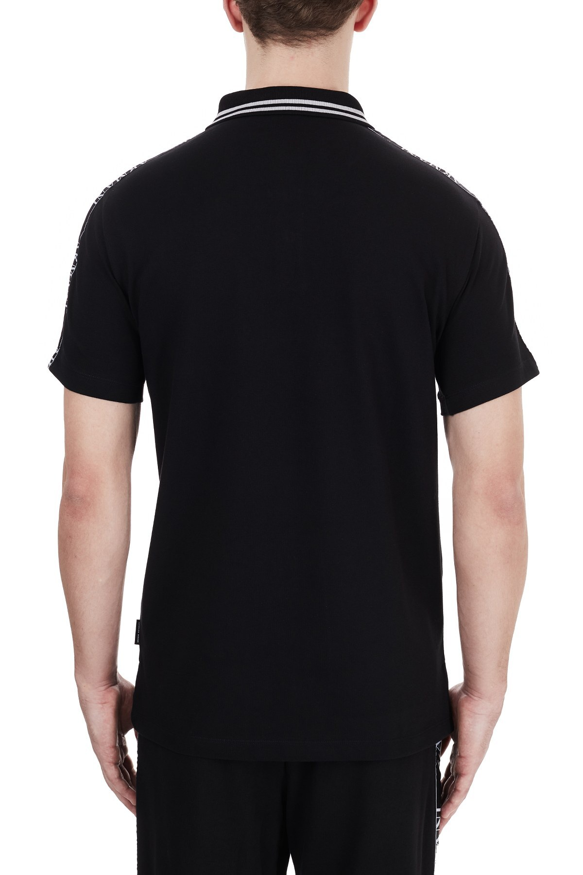 Armani Exchange Pamuklu T Shirt Erkek Polo 6HZFFF ZJU3Z 1200 SİYAH