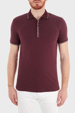 Armani Exchange - Armani Exchange Slim Fit Pamuklu T Shirt Erkek Polo S 8NZF71 ZJH2Z 04AA BORDO