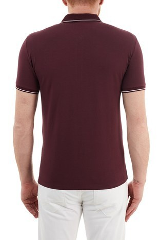 Armani Exchange - Armani Exchange Slim Fit Pamuklu T Shirt Erkek Polo S 8NZF71 ZJH2Z 04AA BORDO (1)