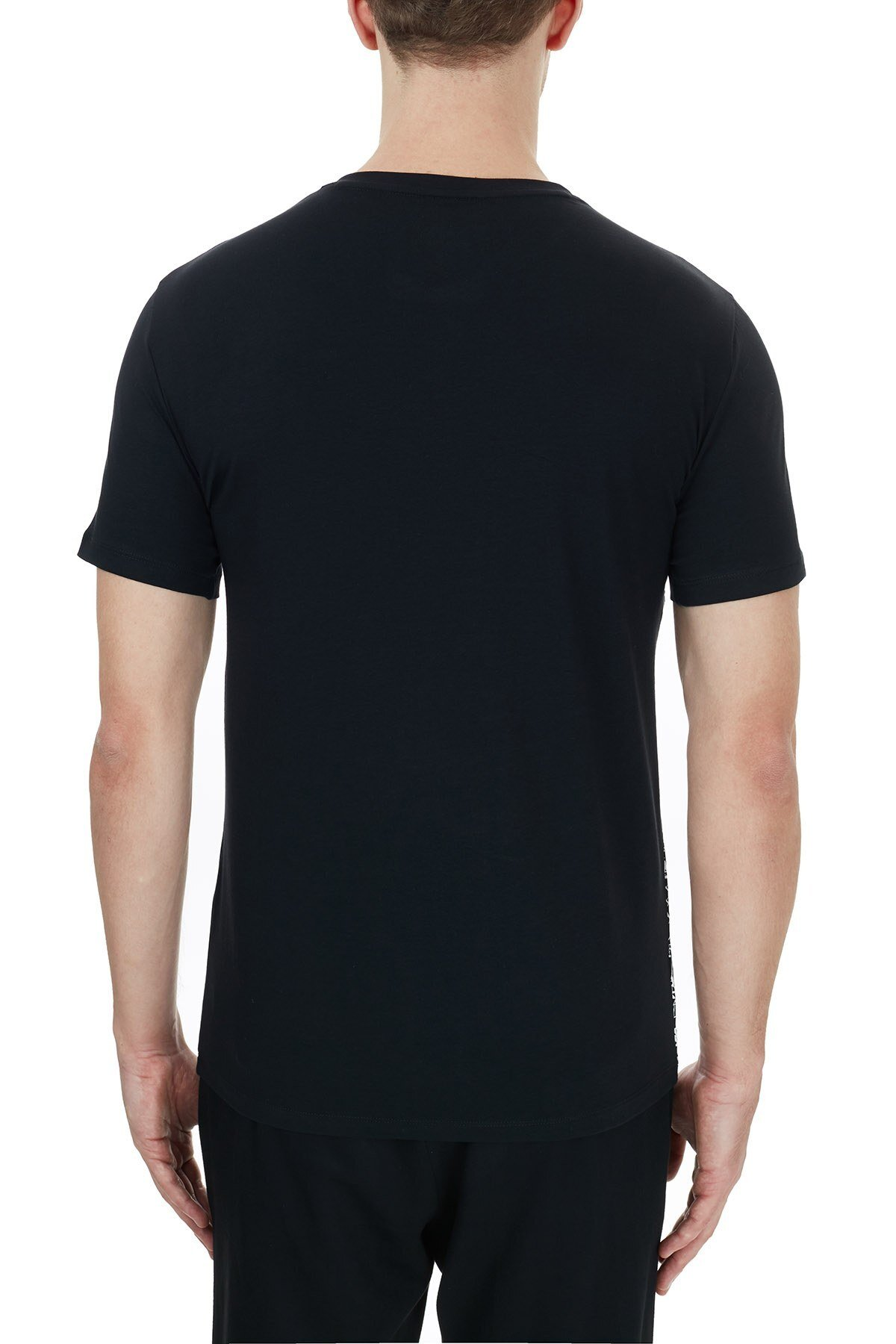 Armani Exchange Pamuklu V Yaka Erkek T Shirt 6HZTFN ZJE6Z 7255 SİYAH