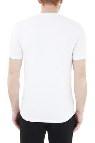 Armani Exchange - Armani Exchange Pamuklu V Yaka Erkek T Shirt 8NZT85 Z8M9Z 1100 BEYAZ (1)