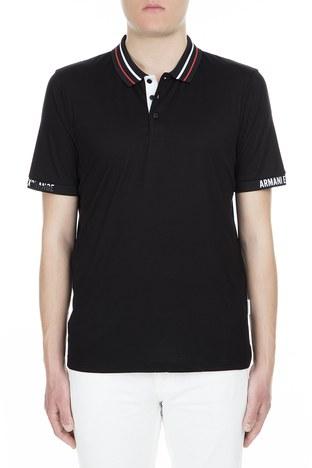 Armani Exchange - Armani Exchange Polo Erkek T Shirt 3GZF86 ZJW3Z 1200 SİYAH
