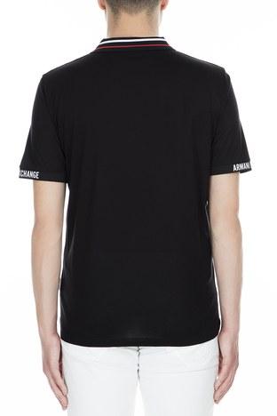 Armani Exchange - Armani Exchange Polo Erkek T Shirt 3GZF86 ZJW3Z 1200 SİYAH (1)