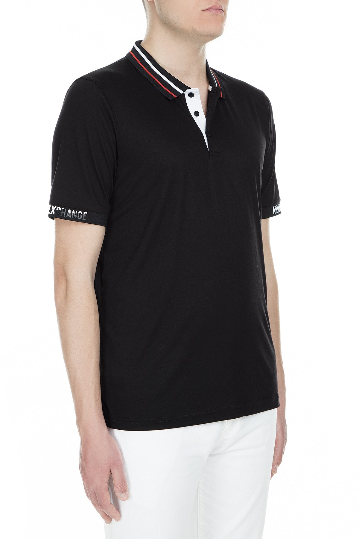 Armani Exchange Polo Erkek T Shirt 3GZF86 ZJW3Z 1200 SİYAH