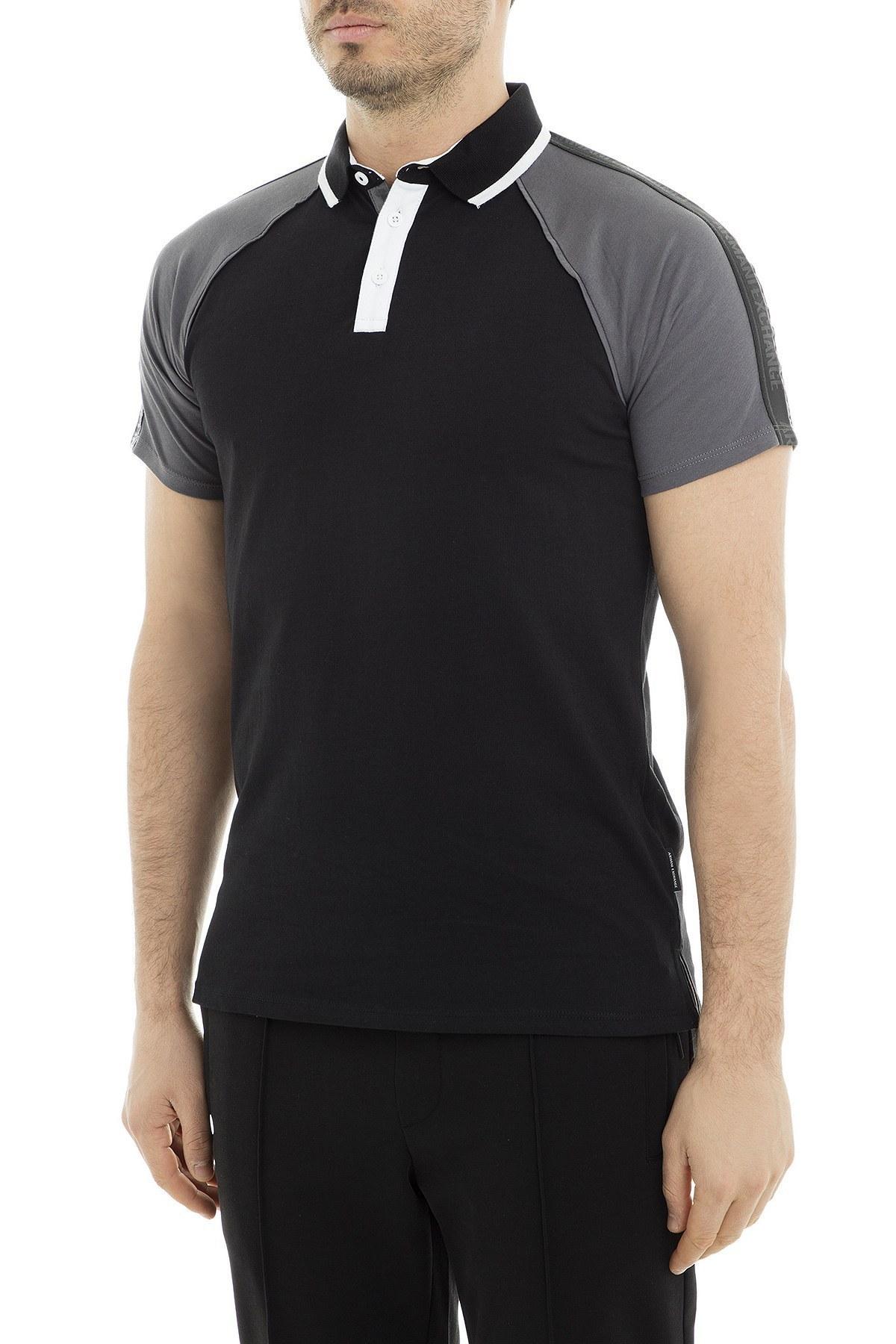Armani Exchange Polo Erkek T Shirt 3GZF92 ZJ4AZ 4285 SİYAH