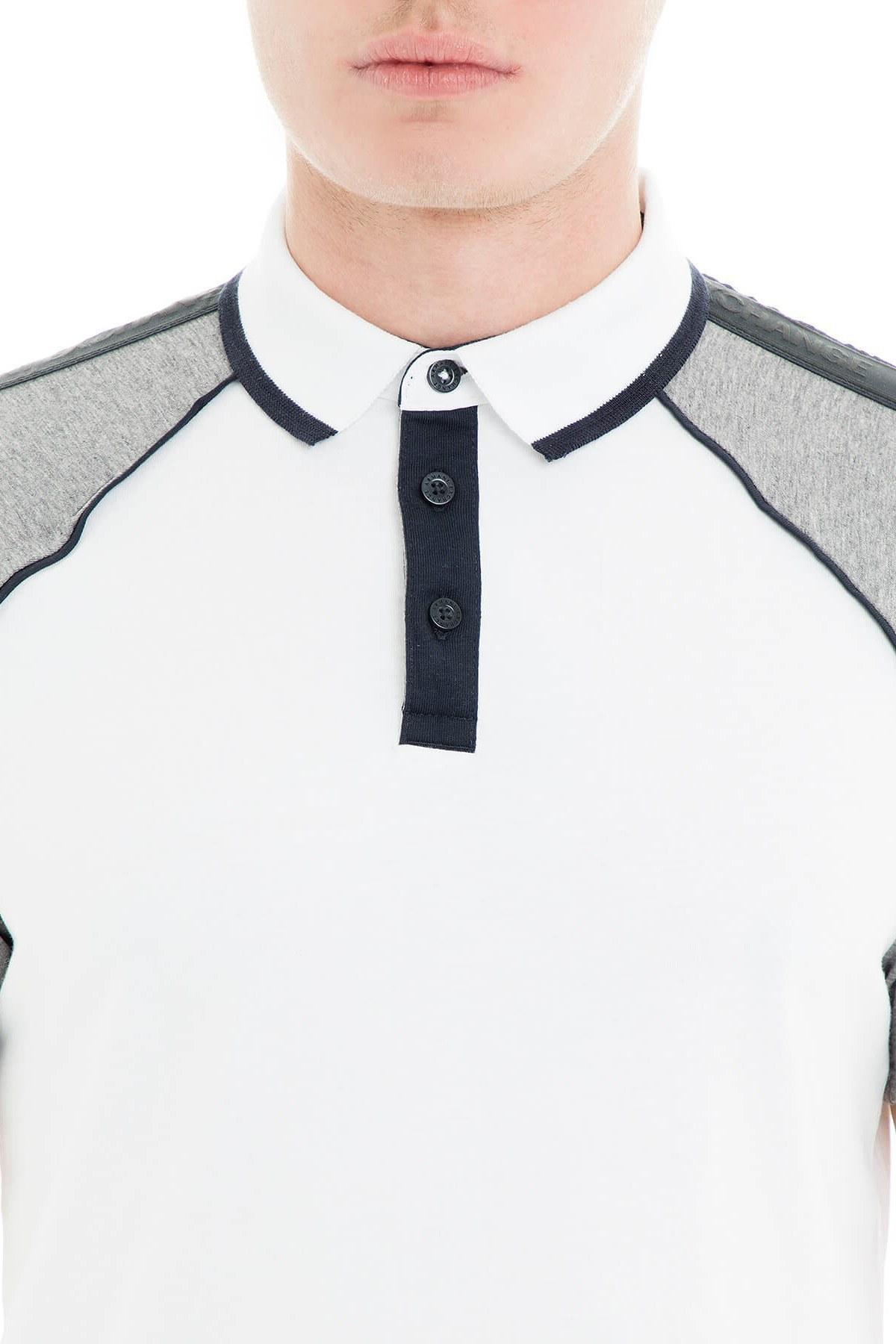 Armani Exchange Polo Erkek T Shirt 3GZF92 ZJ4AZ 5180 BEYAZ