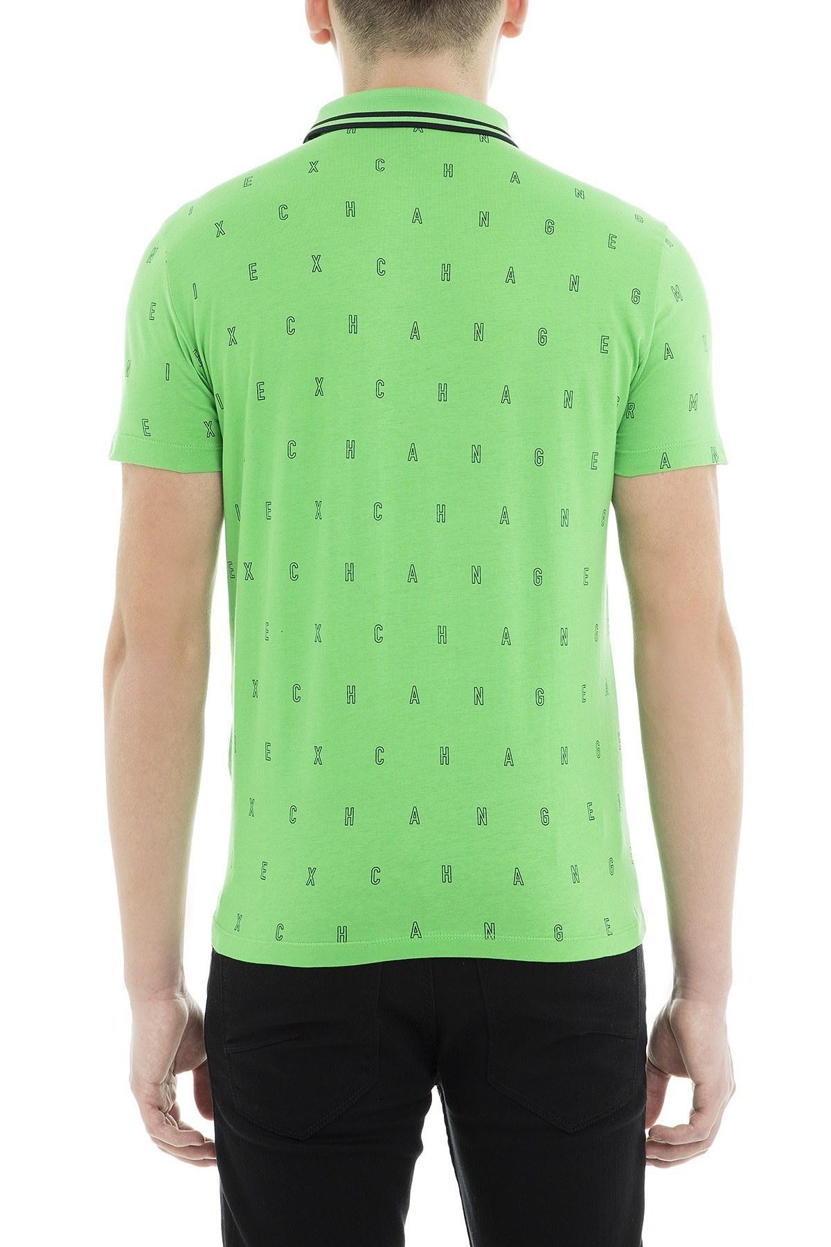Armani Exchange Polo Erkek T Shirt 3GZF93 ZJH4Z 2863 YEŞİL