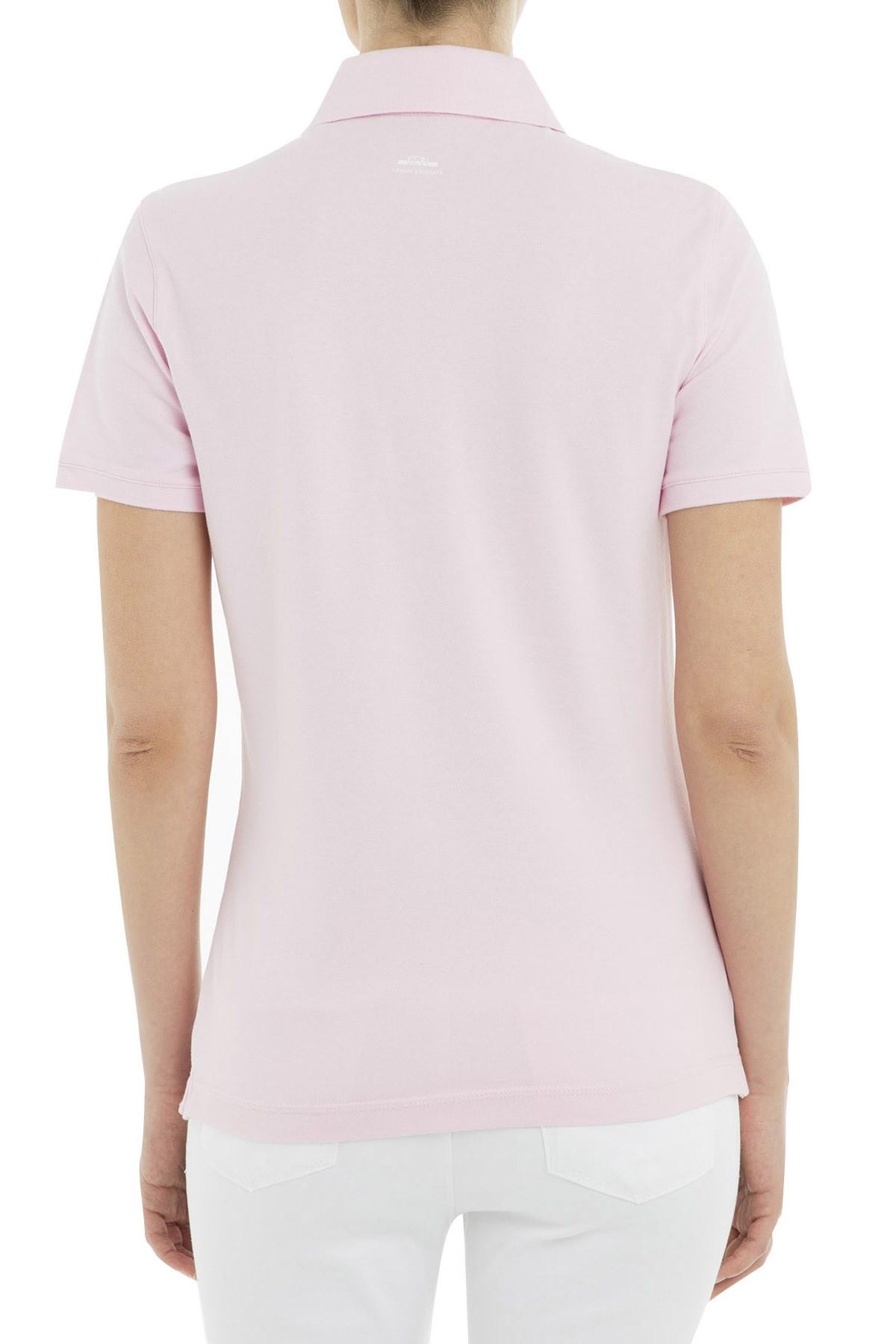 Armani Exchange Polo Bayan T Shirt 8NYF72 Y8B9Z 1453 PEMBE