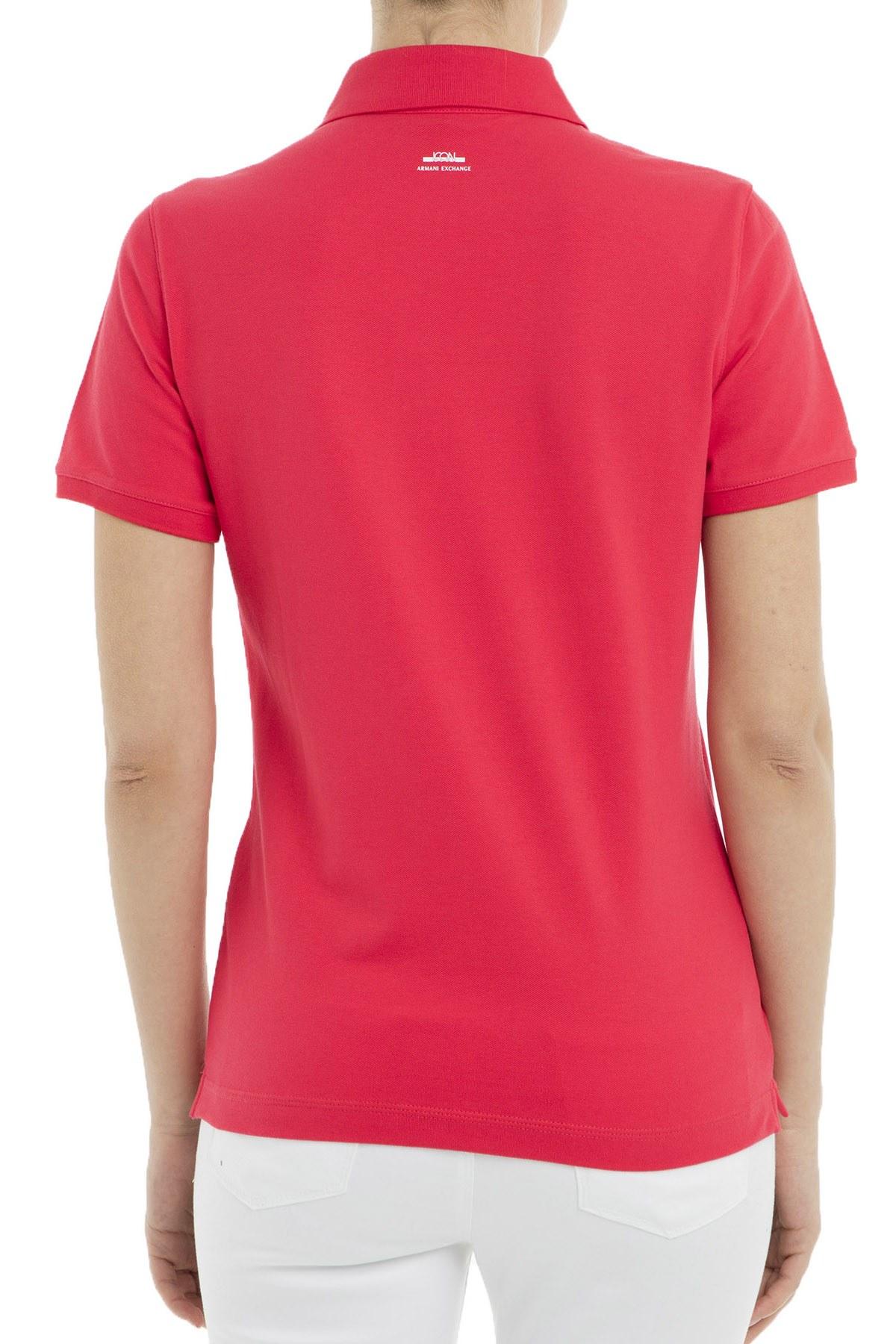 Armani Exchange Polo Kadın T Shirt 8NYF72 Y8B9Z 1454 PEMBE