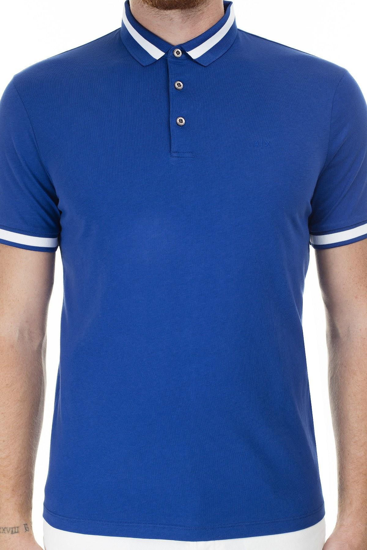 Armani Exchange Regular Fit Düğmeli T Shirt Erkek Polo 3HZFLB ZJH4Z 1511 SAKS