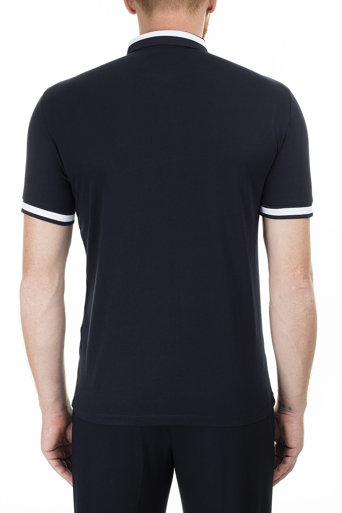 Armani Exchange Regular Fit Düğmeli T Shirt Erkek Polo 3HZFLB ZJH4Z 1583 LACİVERT