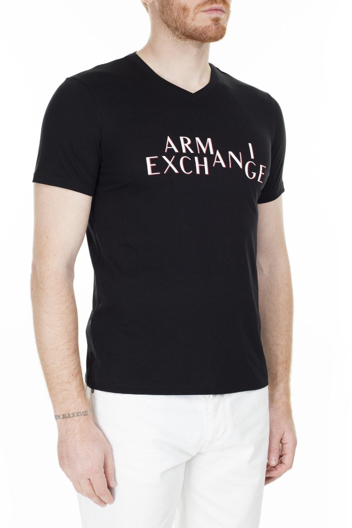 Armani Exchange Regular Fit Erkek T Shirt 3HZTBH ZJA5Z 1200 SİYAH