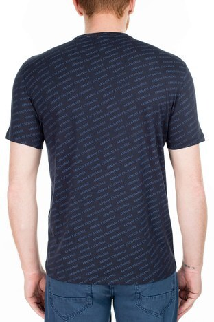 Armani Exchange - Armani Exchange Regular Fit Erkek T Shirt 3HZTFC ZJH4Z 8560 LACİVERT (1)