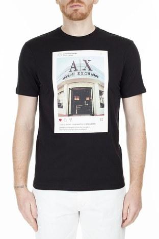 Armani Exchange - Armani Exchange Regular Fit Erkek T Shirt S 6GZTAX ZJH4Z 1200 SİYAH