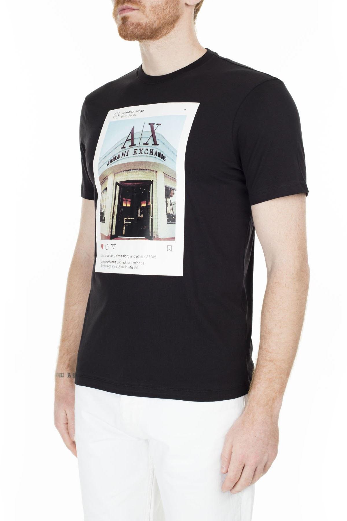 Armani Exchange Regular Fit Erkek T Shirt S 6GZTAX ZJH4Z 1200 SİYAH