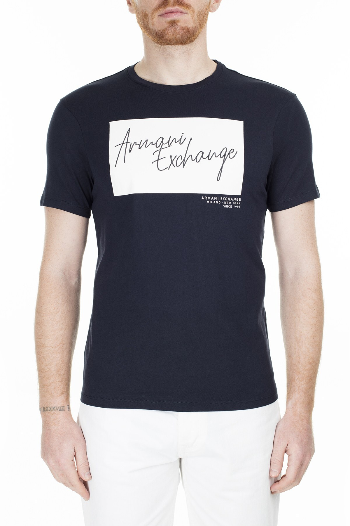 Armani Exchange Regular Fit Erkek T Shirt S 6GZTBP ZJBVZ 1510 LACİVERT