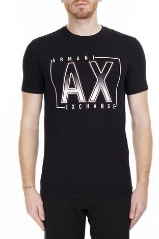 Armani Exchange - Armani Exchange Regular Fit Erkek T Shirt S 6GZTEJ ZJE6Z 1200 SİYAH