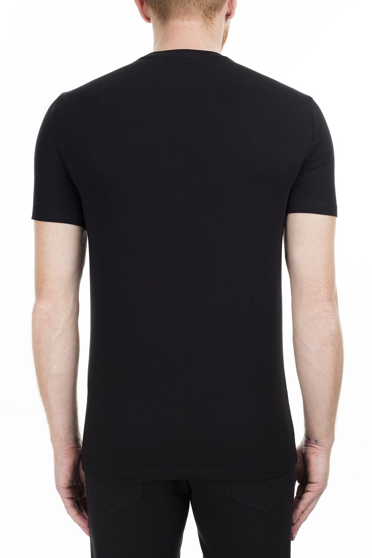 Armani Exchange Regular Fit Erkek T Shirt S 6GZTEJ ZJE6Z 1200 SİYAH