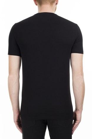 Armani Exchange - Armani Exchange Regular Fit Erkek T Shirt S 6GZTEJ ZJE6Z 1200 SİYAH (1)