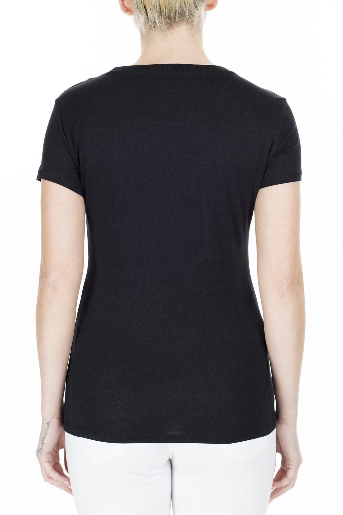Armani Exchange Regular Fit Kadın T Shirt 3HYTAH YJ73Z 1200 SİYAH
