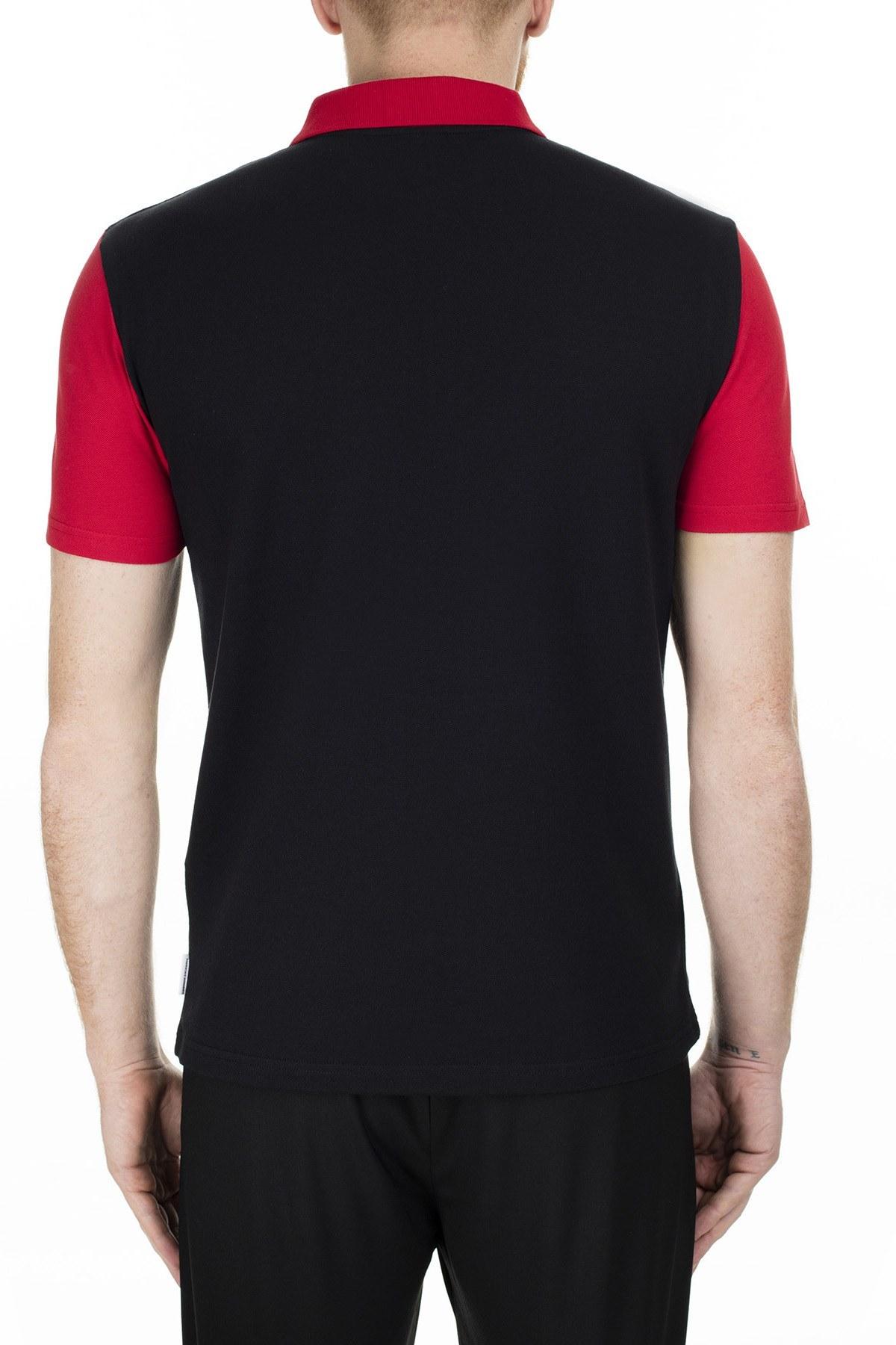 Armani Exchange Regular Fit T Shirt Erkek Polo S 6GZF89 ZJU3Z 6207 SİYAH
