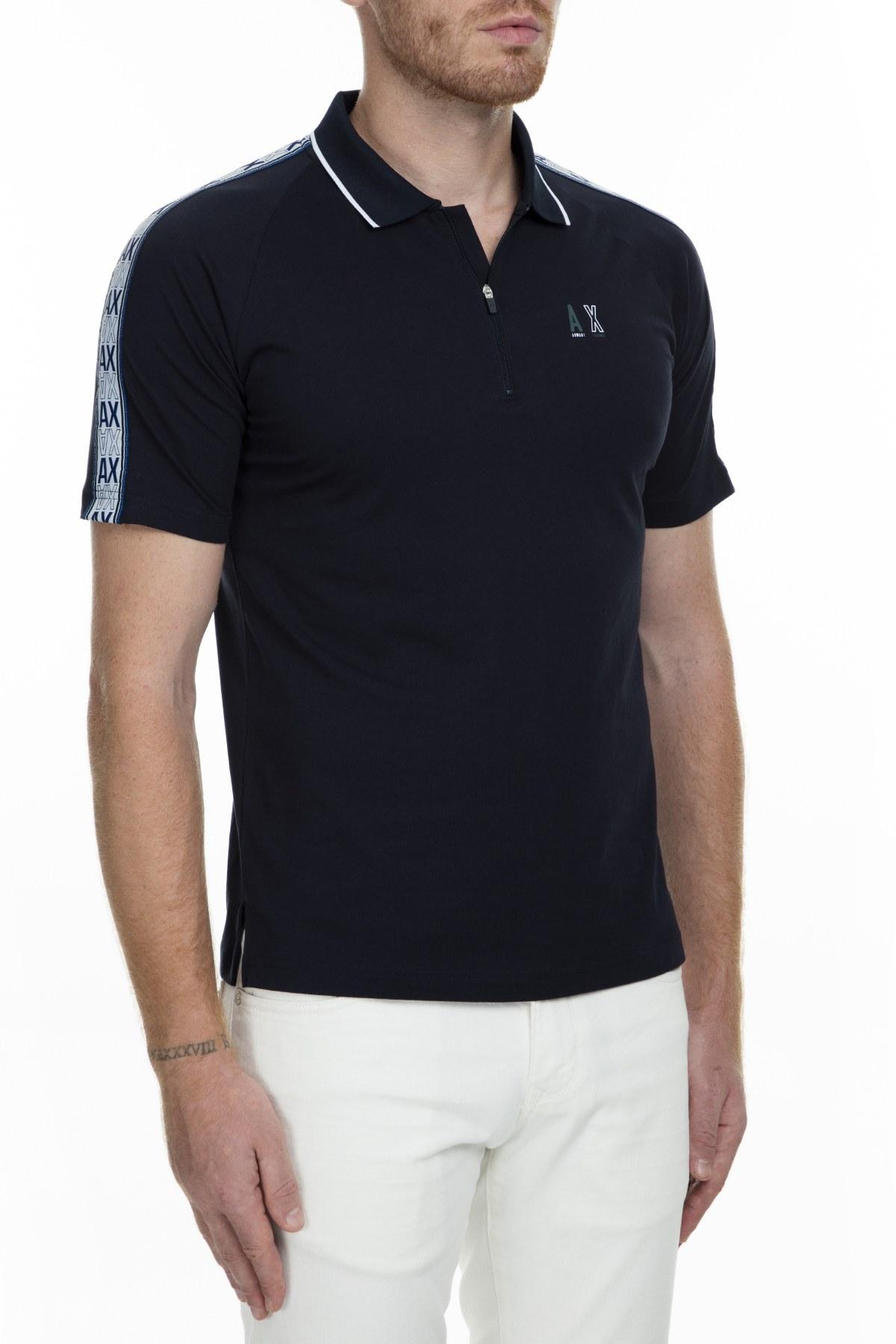 Armani Exchange Regular Fit T Shirt Erkek Polo S 6GZFBE ZJBVZ 1510 LACİVERT