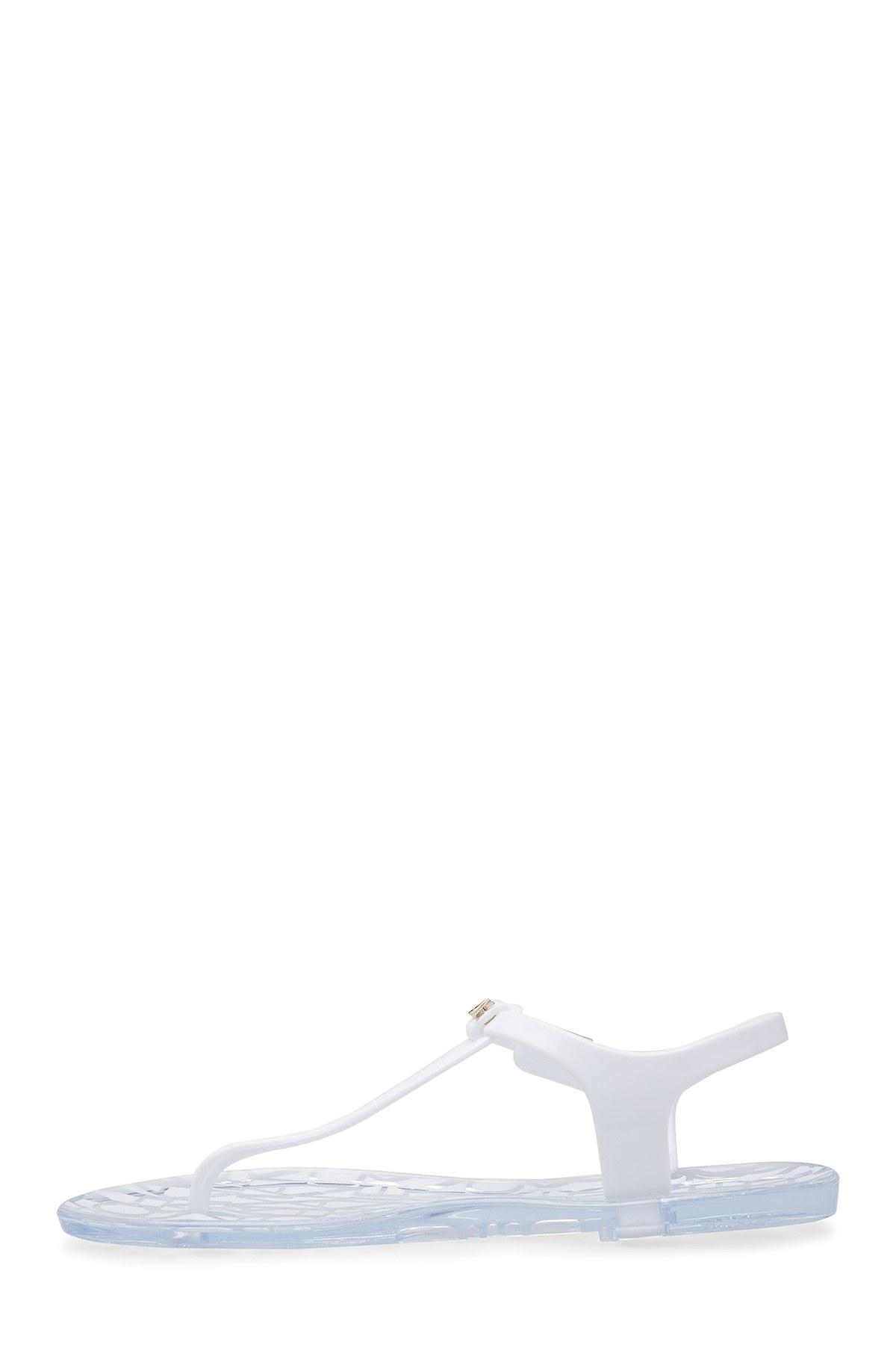 Armani Exchange Sandalet Kadın Terlik XDQ005 XV306 00152 KIRIK BEYAZ