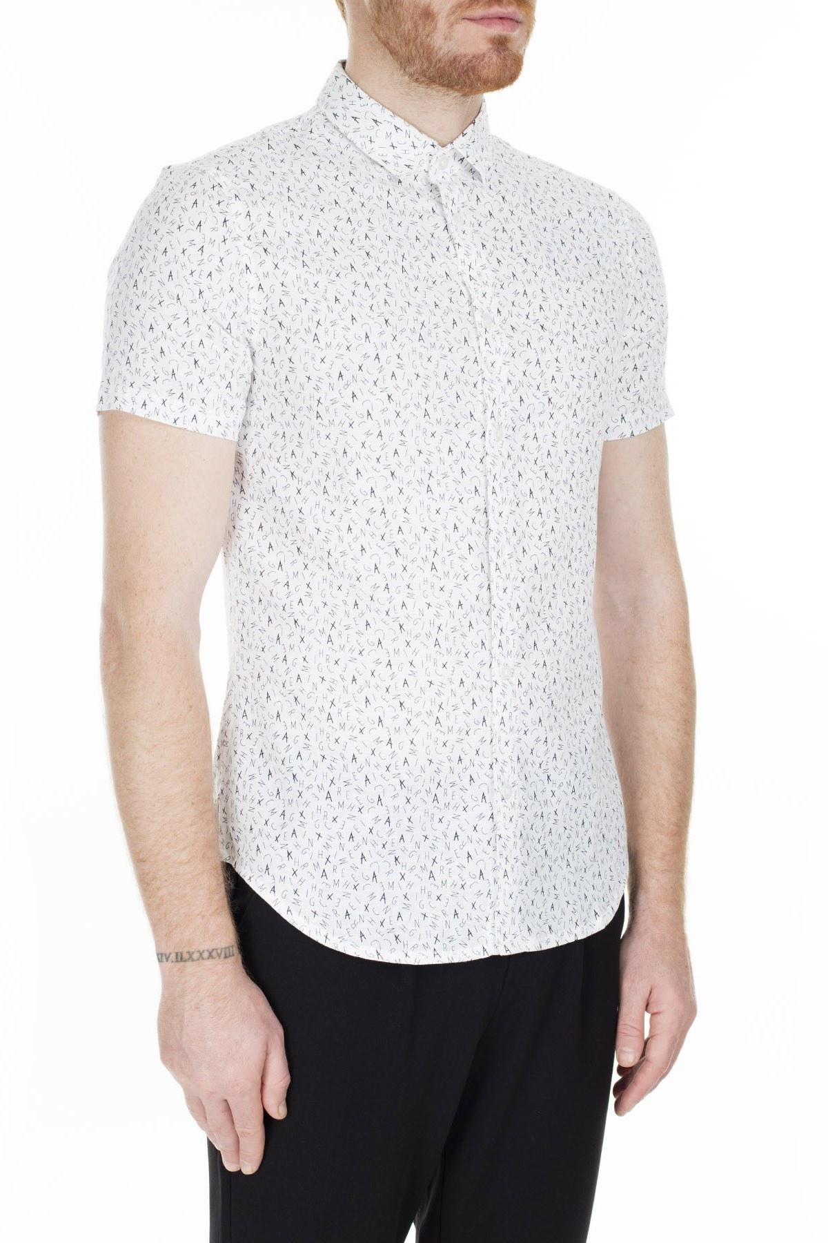 Armani Exchange Slim Fit Erkek Gömlek 3HZC06 ZNDUZ 7128 BEYAZ