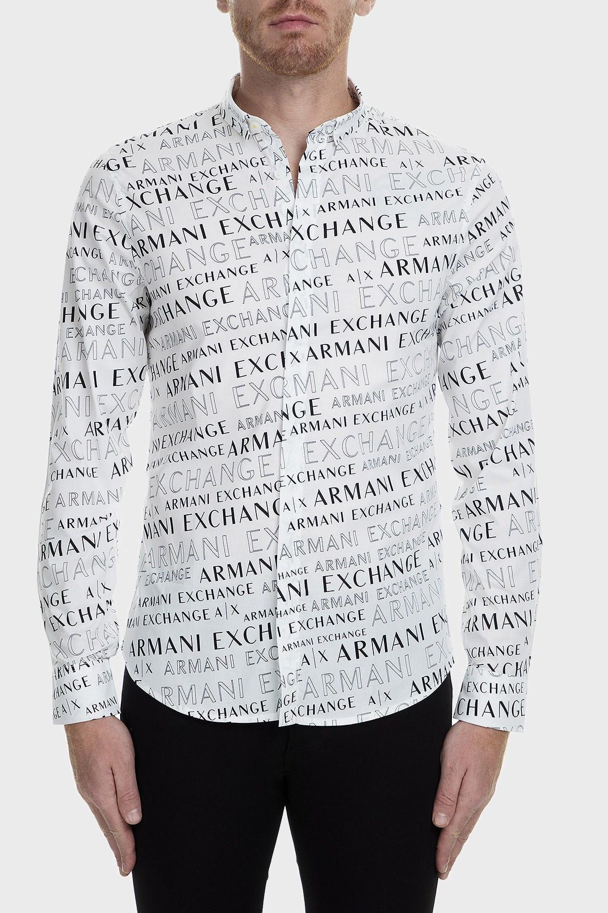 Armani Exchange Slim Fit Erkek Gömlek S 6GZC25 ZNEAZ 6125 BEYAZ