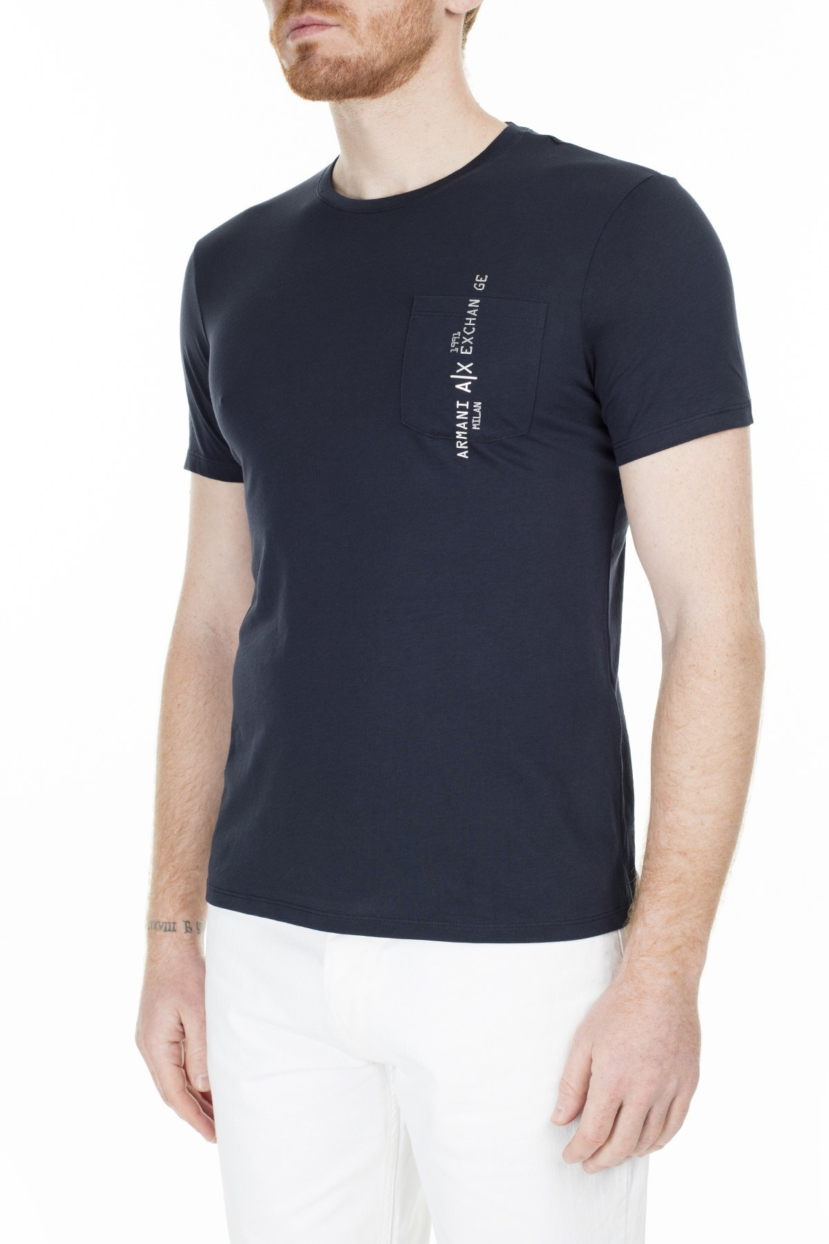 Armani Exchange Slim Fit Erkek T Shirt 3HZTAC ZJA5Z 1510 LACİVERT