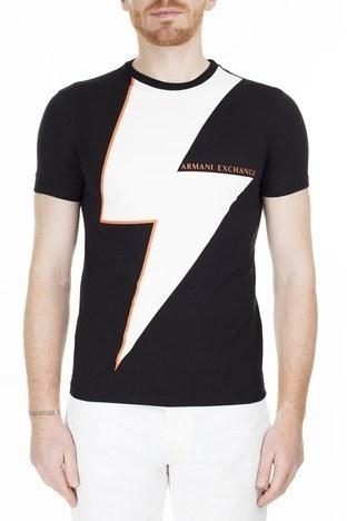 Armani Exchange Slim Fit Erkek T Shirt 3HZTFY ZJBVZ 6293 SİYAH