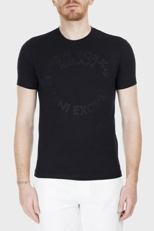 Armani Exchange - Armani Exchange Slim Fit Erkek T Shirt S 6GZTAA ZJV4Z 1200 SİYAH