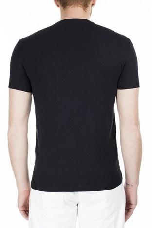 Armani Exchange - Armani Exchange Slim Fit Erkek T Shirt S 6GZTAA ZJV4Z 1200 SİYAH (1)