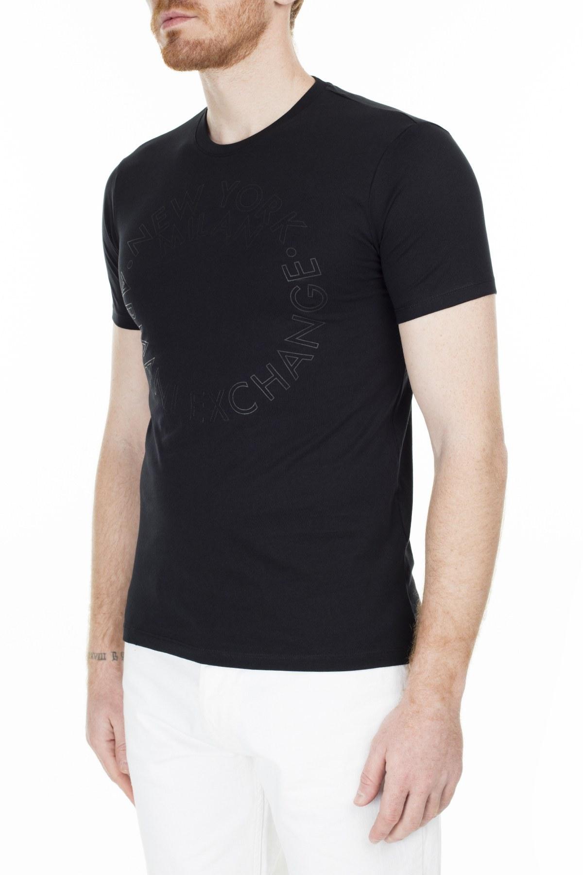 Armani Exchange Slim Fit Erkek T Shirt S 6GZTAA ZJV4Z 1200 SİYAH