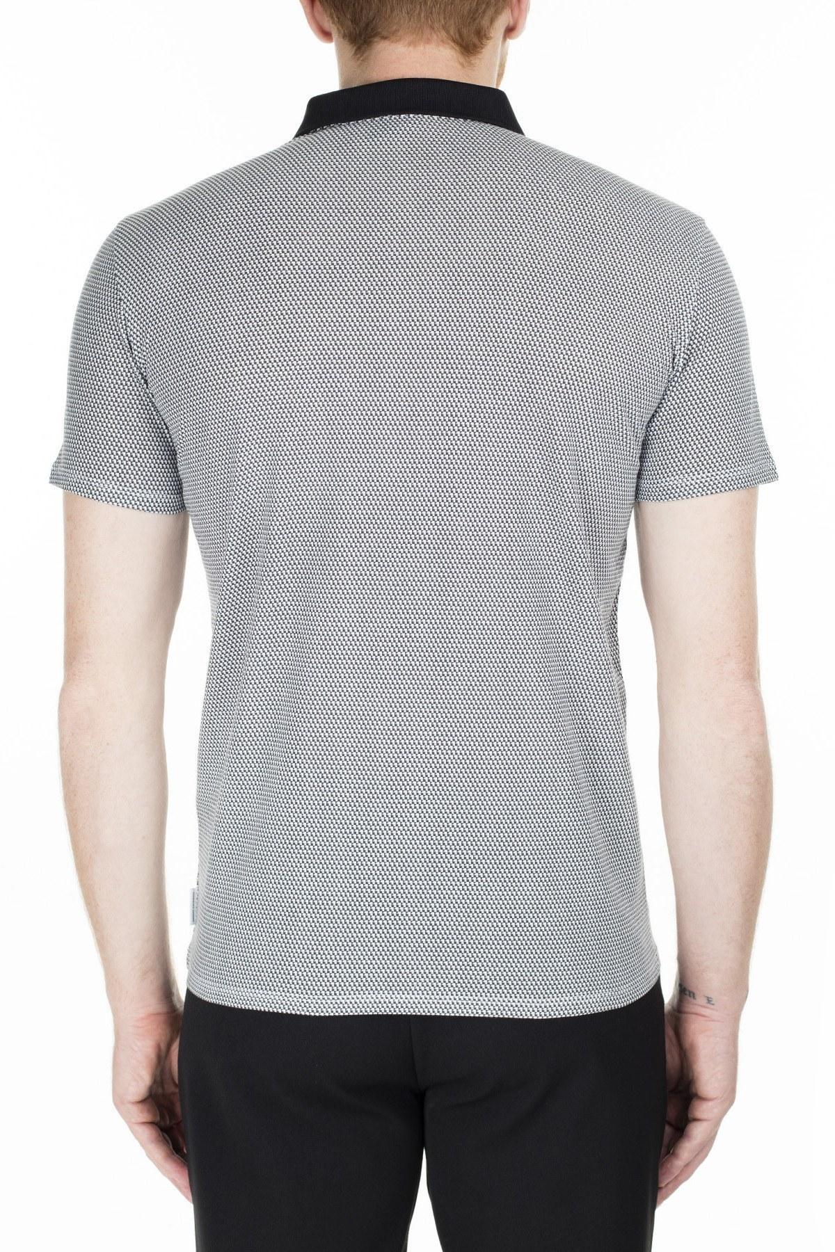 Armani Exchange Slim Fit T Shirt Erkek Polo 3HZF93 ZJH4Z 2118 GRİ