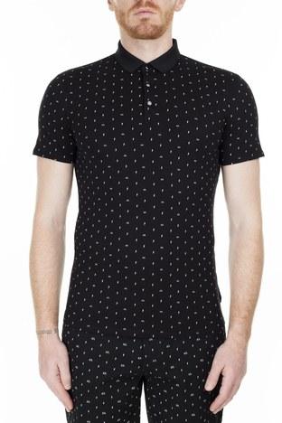 Armani Exchange - Armani Exchange Slim Fit T Shirt Erkek Polo 3HZF93 ZJH4Z 7216 SİYAH