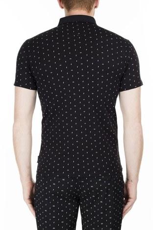 Armani Exchange - Armani Exchange Slim Fit T Shirt Erkek Polo 3HZF93 ZJH4Z 7216 SİYAH (1)
