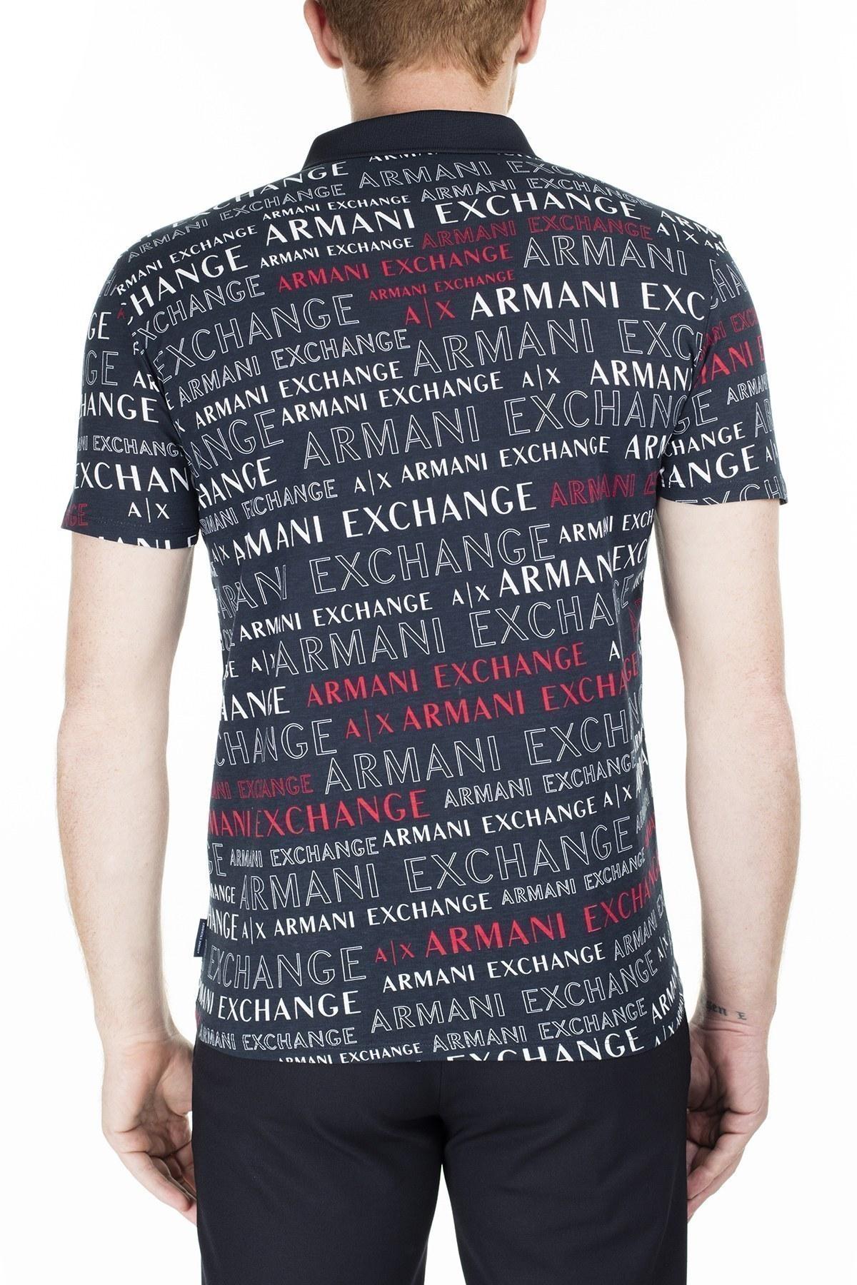Armani Exchange Slim Fit T Shirt Erkek Polo 3HZF93 ZJH4Z 8535 LACİVERT