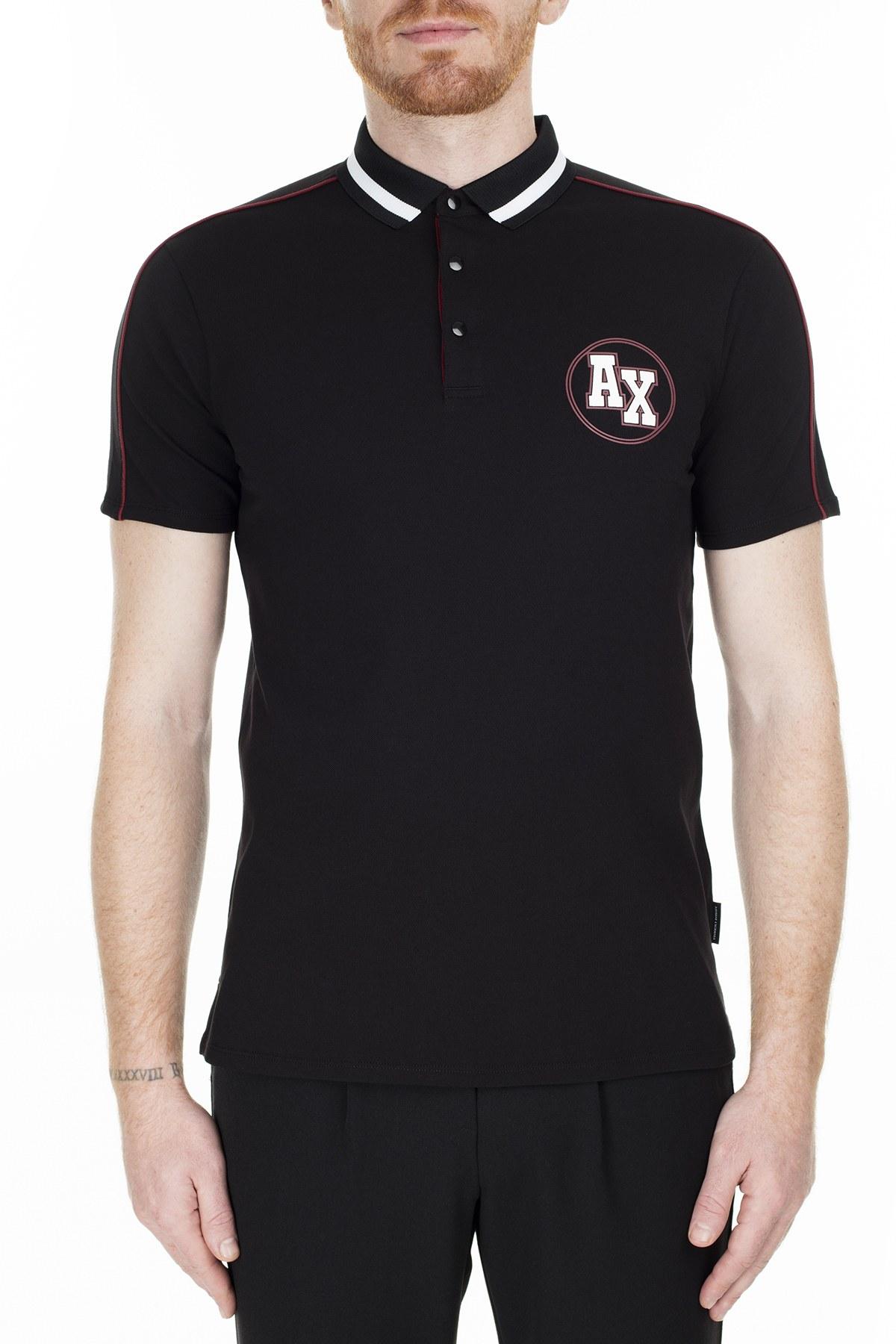 Armani Exchange Slim Fit T Shirt Erkek Polo 3HZFFC ZJ1VZ 1200 SİYAH