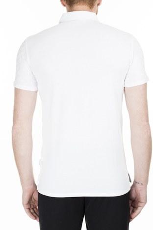 Armani Exchange - Armani Exchange Slim Fit T Shirt Erkek Polo 3HZFFD ZJ7EZ 1100 BEYAZ (1)