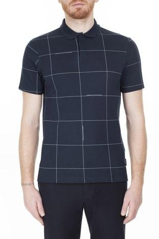 Armani Exchange - Armani Exchange T Shirt Erkek Polo 3HZFAE ZJLUZ 8546 LACİVERT