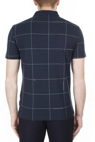 Armani Exchange - Armani Exchange T Shirt Erkek Polo 3HZFAE ZJLUZ 8546 LACİVERT (1)