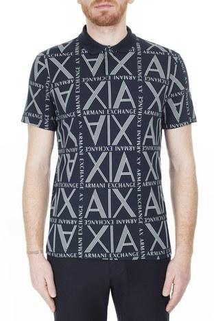 Armani Exchange - Armani Exchange T Shirt Erkek Polo 3HZFAE ZJLUZ 8555 LACİVERT