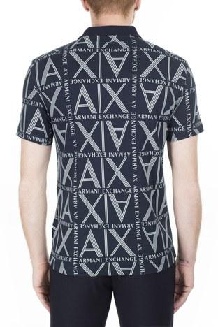 Armani Exchange - Armani Exchange T Shirt Erkek Polo 3HZFAE ZJLUZ 8555 LACİVERT (1)