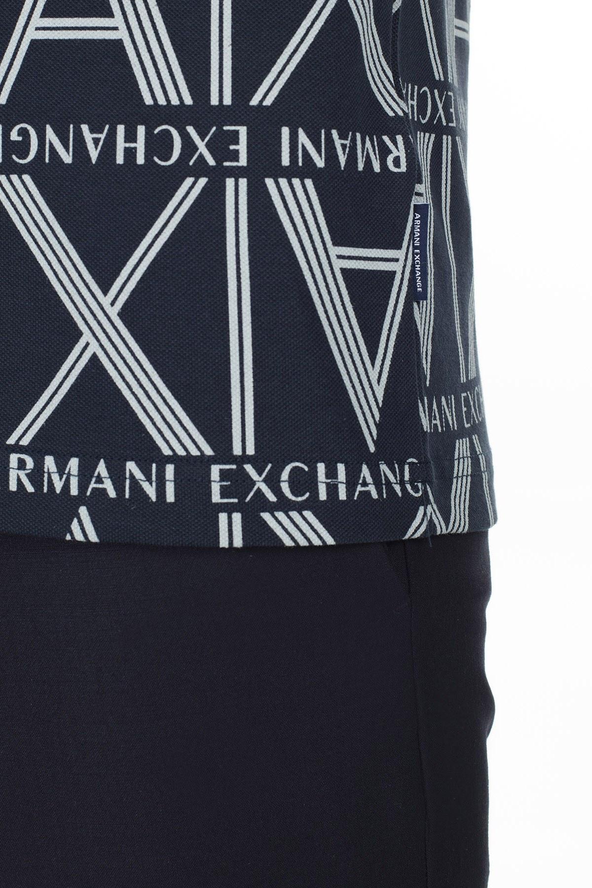 Armani Exchange T Shirt Erkek Polo 3HZFAE ZJLUZ 8555 LACİVERT