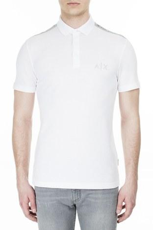 Armani Exchange - Armani Exchange T Shirt Erkek Polo 3HZFAF ZJ3NZ 1100 BEYAZ