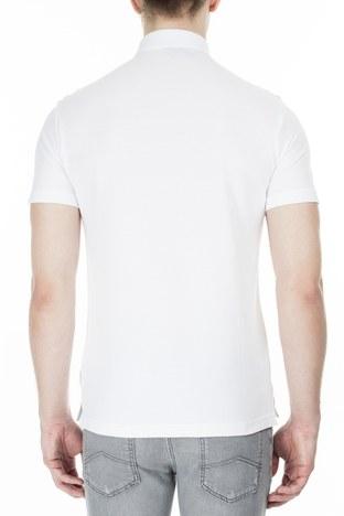 Armani Exchange - Armani Exchange T Shirt Erkek Polo 3HZFAF ZJ3NZ 1100 BEYAZ (1)