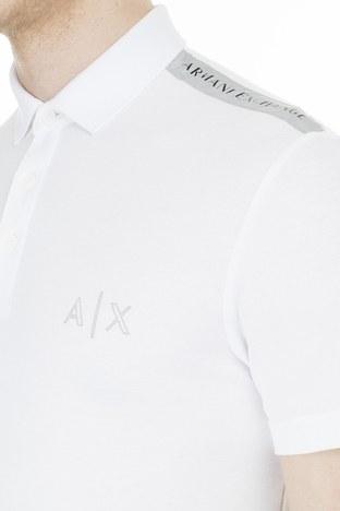 Armani Exchange T Shirt Erkek Polo 3HZFAF ZJ3NZ 1100 BEYAZ