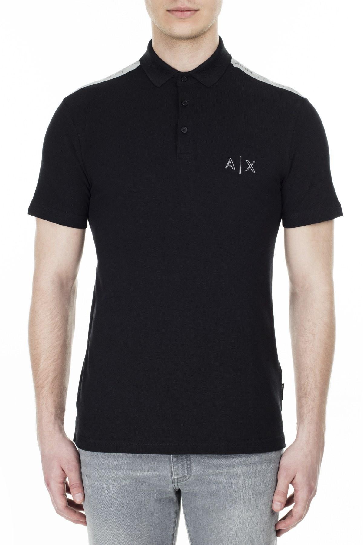 Armani Exchange T Shirt Erkek Polo 3HZFAF ZJ3NZ 1200 SİYAH